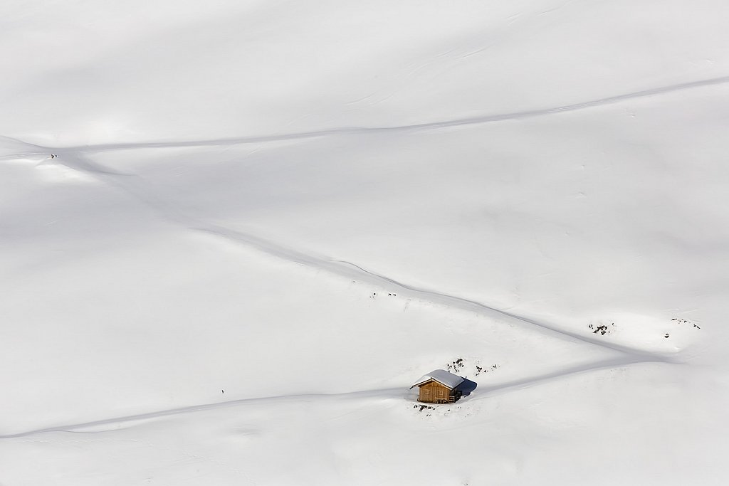 lost in snow